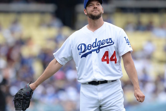 Los Angeles Dodgers starting pitcher Rich Hill