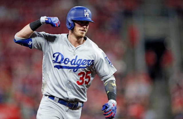 Los Angeles Dodgers right fielder Cody Bellinger