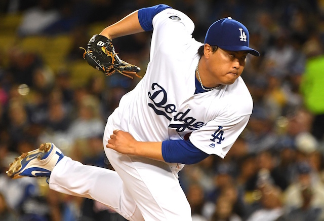Los Angeles Dodgers starting pitcher Hyun-Jin Ryu