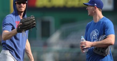 Los Angeles Dodgers outfielder Cody Bellinger and pitcher Walker Buehler during batting practice at PNC Park