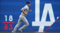 Los Angeles Dodgers shortstop Corey Seager warming up for a game at PNC Park