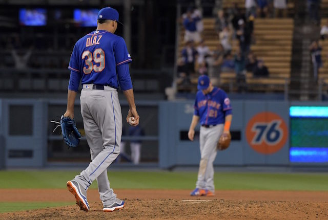 New York Mets closer Edwin Diaz blows a save against the Los Angeles Dodgers