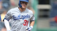 Los Angeles Dodgers outfielder Joc Pederson rounds the bases after hitting a home run against the Pittsburgh Pirates