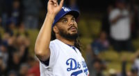 Los Angeles Dodgers closer Kenley Jansen reacts after converting a five-out save against the New York Mets