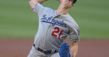 Los Angeles Dodgers starting pitcher Walker Buehler in a game against the Pittsburgh Pirates