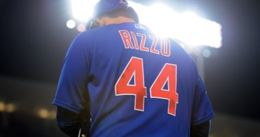 Chicago Cubs first baseman Anthony Rizzo during a game at Dodger Stadium