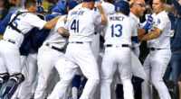 Austin Barnes, Matt Beaty, Kyle Garlick, Max Muncy, Joc Pederson, Dodgers walk-off win