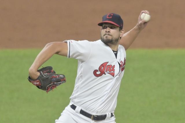 Cleveland Indians closer Brand Hand