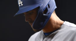 Los Angeles Dodgers outfielder Chris Taylor during a game against the Arizona Diamondbacks