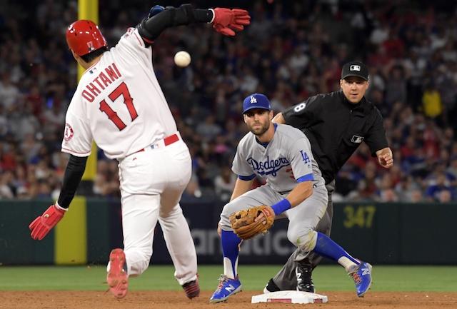 Los Angeles Dodgers infielder Chris Taylor