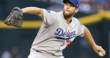 Los Angeles Dodgers starting pitcher Clayton Kershaw against the Arizona Diamondbacks