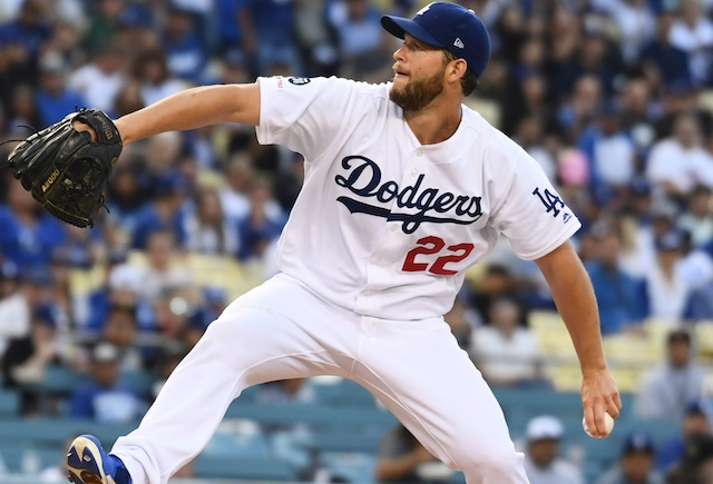 Los Angeles Dodgers starting pitcher Clayton Kershaw against the San Francisco Giants