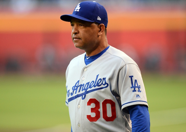 Los Angeles Dodgers manager Dave Roberts before a game against the Arizona Diamondbacks at Chase Field