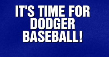 """""""It's Time For Dodger Baseball"""" category on ABC's """"Jeopardy!"""""""