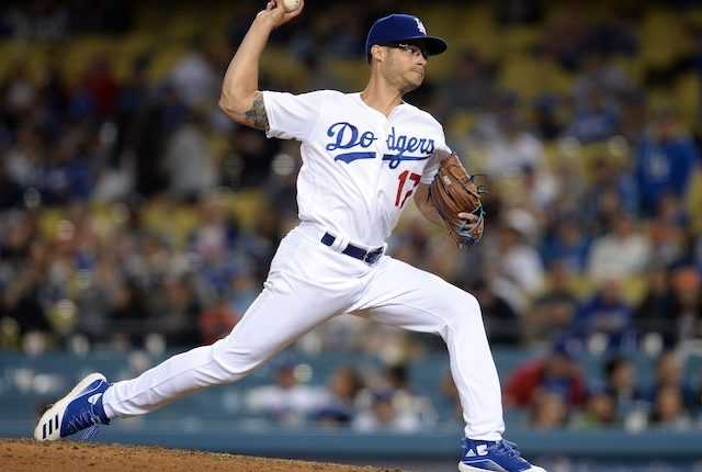 Los Angeles Dodgers relief pitcher Joe Kelly against the San Francisco Giants