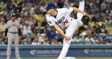 Los Angeles Dodgers relief pitcher Josh Sborz against the San Francisco Giants