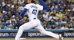Los Angeles Dodgers relief pitcher JT Chargois against the San Francisco Giants