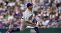 Los Angeles Dodgers pitcher Julio Urias against the Colorado Rockies