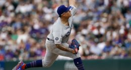 Los Angeles Dodgers pitcher Julio Urias against the Colorado Rockies