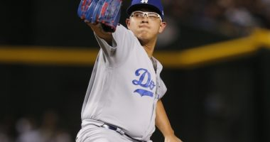 Los Angeles Dodgers pitcher Julio Urias against the Arizona Diamondbacks
