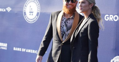 Justin Turner, Kourtney Turner, 5th Annual Los Angeles Dodgers Foundation Blue Diamond Gala