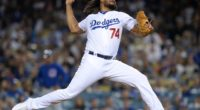 Los Angeles Dodgers closer Kenley Jansen against the Chicago Cubs