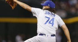 Los Angeles Dodgers closer Kenley Jansen against the Arizona Diamondbacks