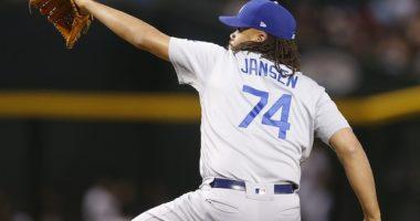 Los Angeles Dodgers closer Kenley Jansen against the Arizona Diamondbacks