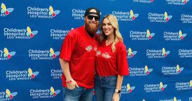 Los Angeles Dodgers third baseman Justin Turner and wife Kourtney Turner honorary hosts at the Children's Hospital Los Angeles Walk and Play LA 2019