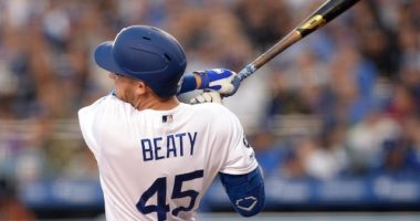 Matt Beaty hits his first career home run with the Los Angeles Dodgers