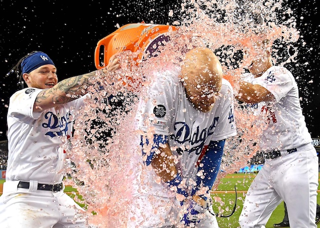 Matt Beaty, Joc Pederson, Alex Verdugo, Dodgers walk-off win