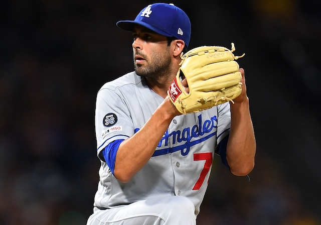 Los Angeles Dodgers relief pitcher Scott Alexander during a game against the Pittsburgh Pirates