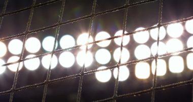General view of stadium netting