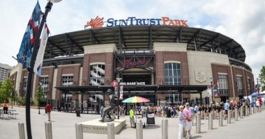 General view of a SunTrust Park entrance, home of the Atlanta Braves