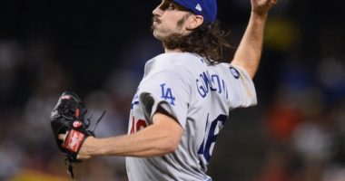 Los Angeles Dodgers starting pitcher Tony Gonsolin against the Arizona Diamondbacks