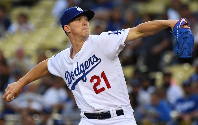 Los Angeles Dodgers starting pitcher Walker Buehler against the Colorado Rockies