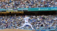 Los Angeles Dodgers starting pitcher Walker Buehler against the Chicago Cubs