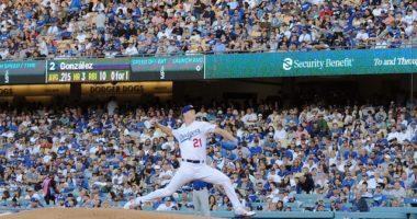 Los Angeles Dodgers starting pitcher Walker Buehler against the Chicago Cubs
