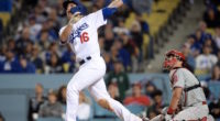 Los Angeles Dodgers catcher Will Smith hits a walk-off home run