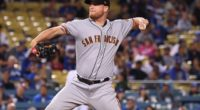 San Francisco Giants relief pitcher Will Smith against the Los Angeles Dodgers