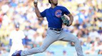 Chicago Cubs starting pitcher Yu Darvish at Dodger Stadium