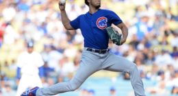 Chicago Cubs starting pitcher Yu Darvish at Dodger Stadium