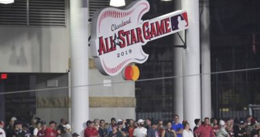 2019 MLB All-Star Game logo at Progressive Field