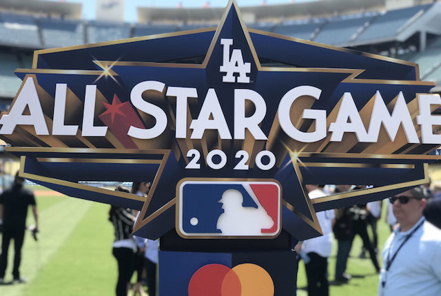 Los Angeles Dodgers unveiled the 2020 MLB All-Star Game logo at Dodger Stadium