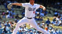 Los Angeles Dodgers pitcher Caleb Ferguson against the Miami Marlins