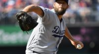 Los Angeles Dodgers pitcher Clayton Kershaw against the Washington Nationals