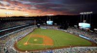 General view of Dodger Stadium