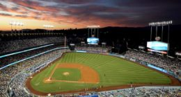General view of Dodger Stadium