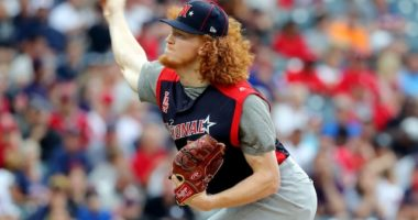 Los Angeles Dodgers pitching prospect Dustin May in the 2019 MLB Futures Game