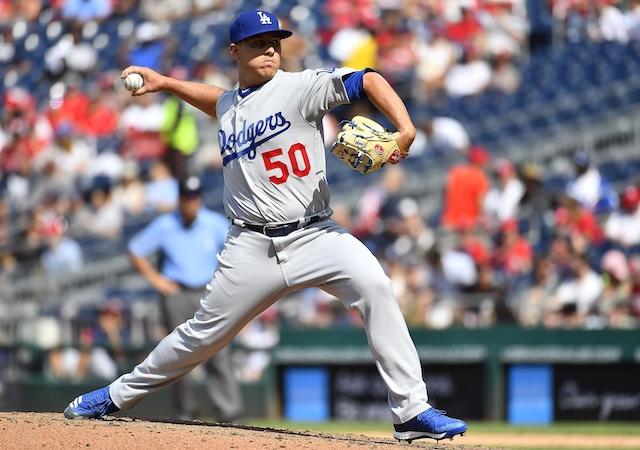Los Angeles Dodgers relief pitcher Jaime Schultz against the Washington Nationals